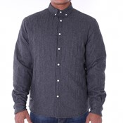 Pelle Pelle - Quilted flannel woven shirt l*