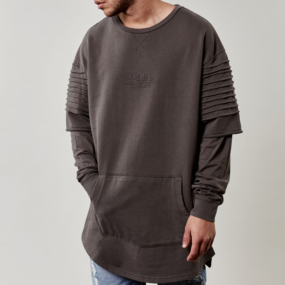 Image of   Csbl pleated layer crewneck