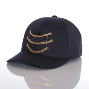 Chained icon curved snapback