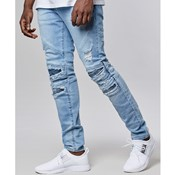 Cayler & Sons - Paneled inverted biker denim *