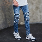 Inverted biker ian denim pants