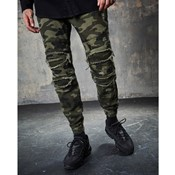 Paneled inverted biker jogger