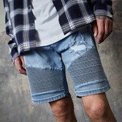 Biker sid denim shorts